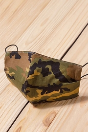 Cotton Washable Face Mask Reusable Cloth Face Covering with Slot for Filter-Camouflage Camo Print