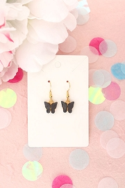 Granola + Barley Butterfly Earrings-Black
