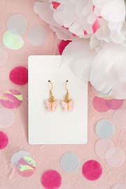 Granola + Barley Butterfly Earrings-Pink
