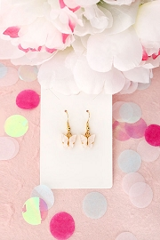 Granola + Barley Butterfly Earrings-White