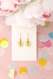 Granola + Barley Butterfly Earrings-Yellow