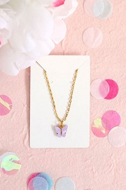 Granola + Barley Butterfly Necklace-Purple