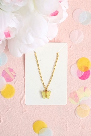 Granola + Barley Butterfly Necklace-Yellow