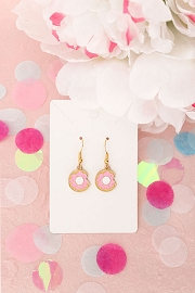 Granola + Barley Donut Earrings-Pink