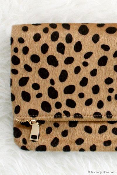60f50bc7b Cheetah Print Leopard Animal Print Faux Fur Clutch-Leopard Print