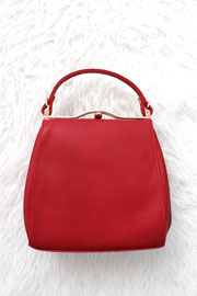 :As Seen In PEOPLE STYLEWATCH Magazine: Classic Top Handle Purse-Red