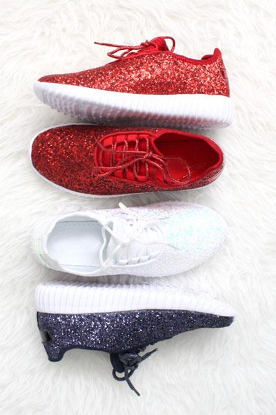 e63246b836e0c Lace Up Glitter Bomb Sneakers Shoes-Rose Gold