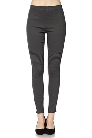 PLUS SIZE Moto Stretch Jeggings Pants-Grey