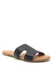 Every Day H Band Cutout Sandals Slides-Black