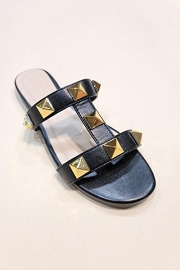 Strappy Studded Sandals-Black
