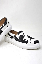 Snake Textured Casual Platform Slip On Shoes Sneakers-Cow