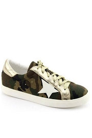 Camouflage Lace Up Low Top Star Sneakers-Camo Print