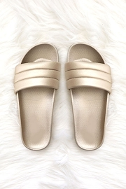 Slip On Slides Slippers-Champagne Gold
