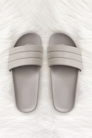 Slip On Slides Slippers-Grey