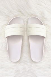 Slip On Slides Slippers-White