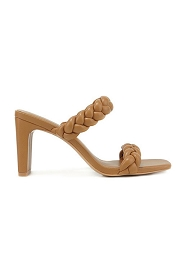 Braided Woven Heels-Camel Brown
