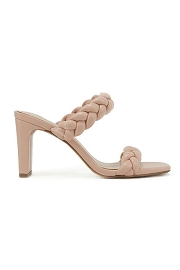 Braided Woven Heels-Blush Pink