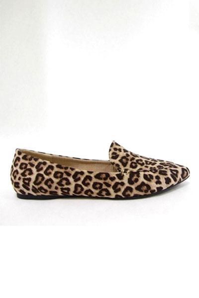 leopard loafer flats