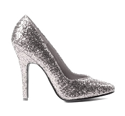 Sexy Glitter Stiletto High Heel Shoes,-Silver