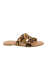 Every Day H Band Cutout Sandals-Leopard Print
