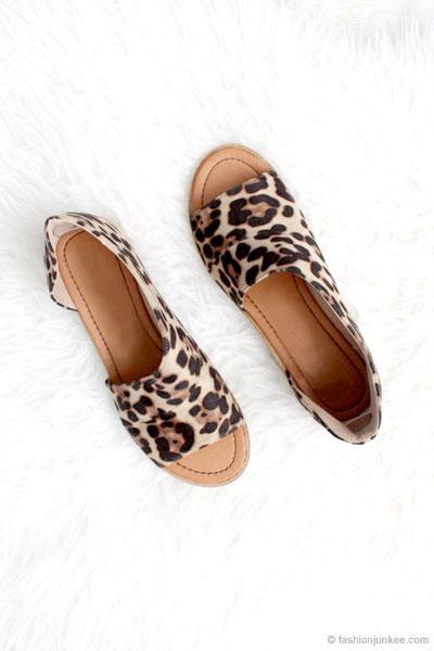 Cutout Flats-Leopard Print