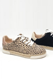 Animal Print Lace Up Espadrille Sneakers-Leopard Cheetah Print
