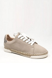 Animal Print Lace Up Espadrille Sneakers-Stone Taupe