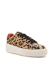 Casual Animal Print Low Top Platform Lace Up Sneakers-Leopard Print