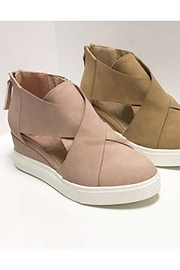 Cutout Wedge Sneakers-Blush Pink