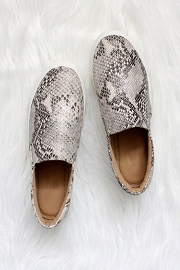 Comfortable Casual Slip On Flat Shoes Sneakers-Python Snake Skin Print