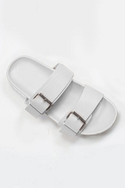 Cute Double Strap Buckle Sandals-White