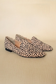 Classic Closed Toe Loafer Flats Shoes-Leopard Print