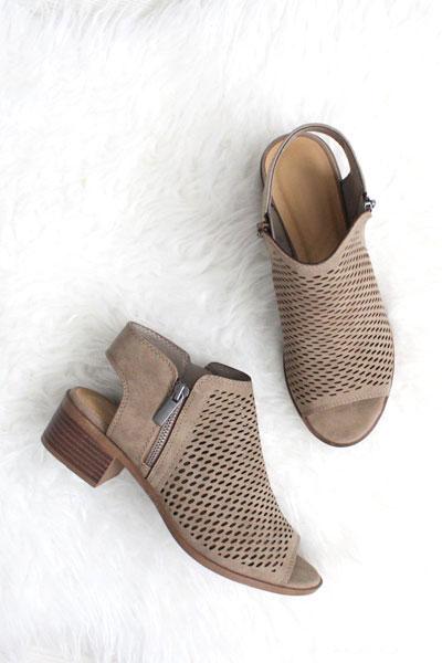 Open Peep Toe Comfortable Low Heel