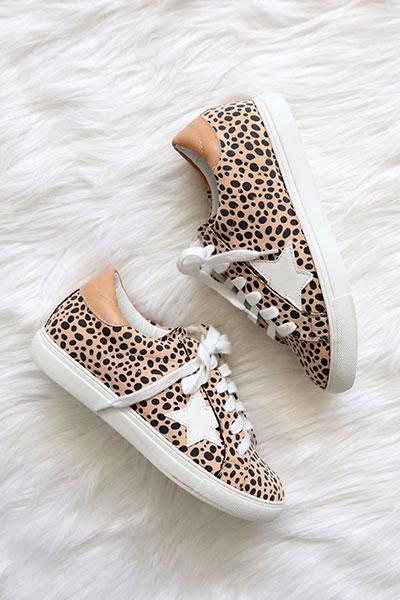 Star Sneakers-Leopard Print