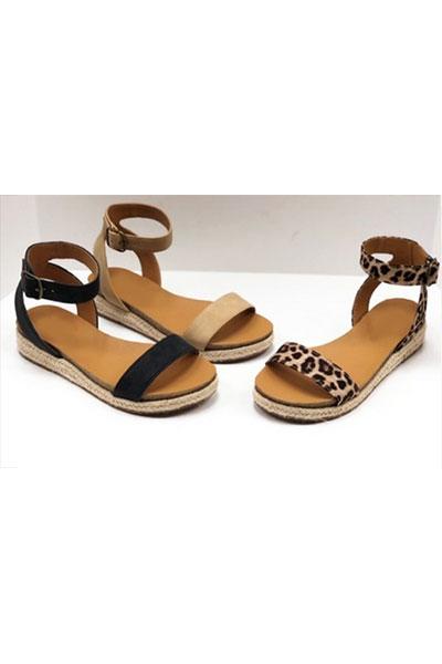 Animal Print Espadrille Flat Sandals