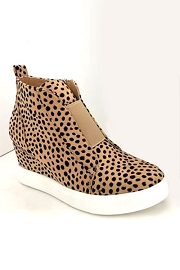 Animal Print Wedge Sneakers-Cheetah Print