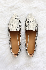 Classic Pointy Toe Closed Toe Loafer Flats Shoes-Python Snake Print
