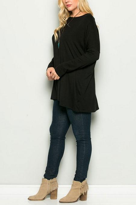 78ec7bf2be4 Long Sleeve Loose Oversized Off the Shoulder Top-Black