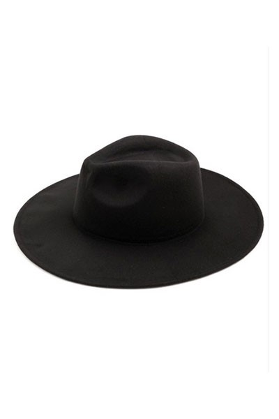 Wide Brim Hat-Black