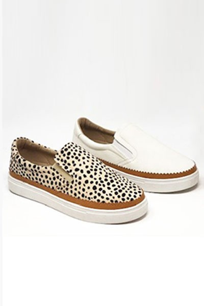 Casual Animal Print Slip On Shoes with Trim-Leopard Cheetah Print