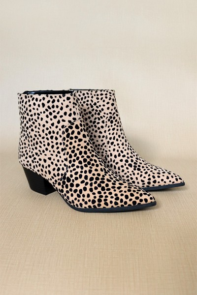 Pointy Closed Toe Booties-Leopard Print
