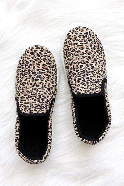 Comfortable Casual Slip On Flat Shoes Sneakers-Leopard Print